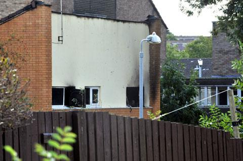 CWMBRAN FIRE: The burnt out house on Tillsland, Coed Eva in Cwmbran