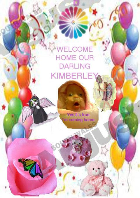 TRAGIC: A web card prepared to welcome Kay-Leigh Buckley's baby   Kimberley Buckley home