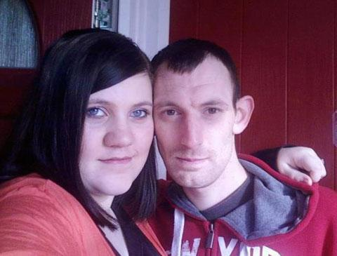 ARRESTED: Carl Mills, right, with girlfriend Kayleigh Buckley who died in the blaze