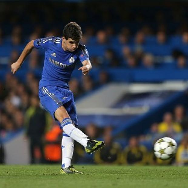Chelsea's Emboaba Oscar scores the first goal of the game