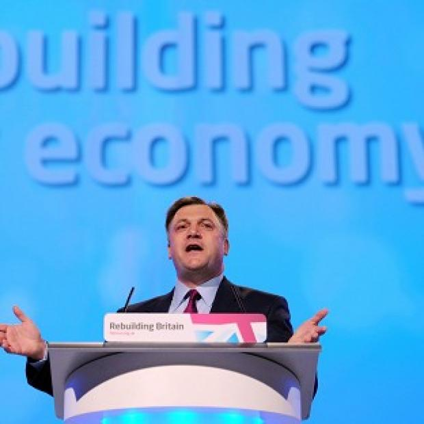 Shadow chancellor Ed Balls delivers his keynote address to the Labour Party conference in Manchester