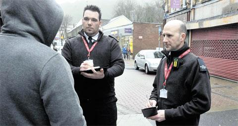 ON PATROL: XFOR officers in Abertillery