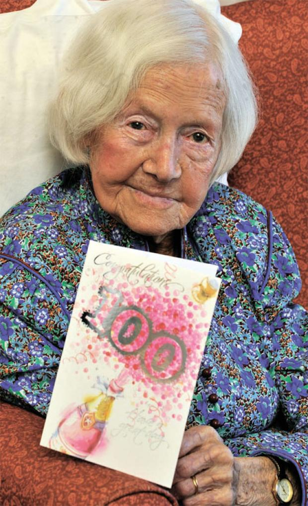 CELEBRATIONS: Wyn Reynolds celebrates her 100th birthday
