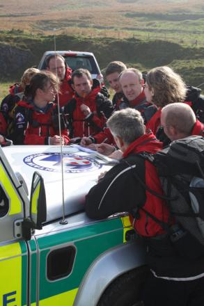 RESCUE: The Abergavenny-based Longtown Mountain Recue Team