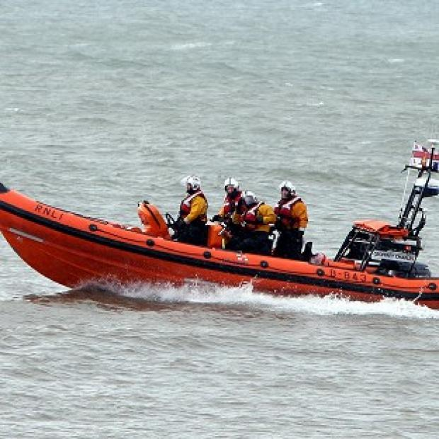 RNLI crews joined the search for a missing man on Saturday