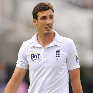 Steven Finn is an injury concern following the first day of England's tour in India