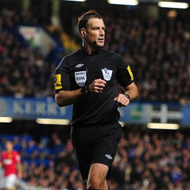 Mark Clattenburg took charge of Chelsea's clash with Manchester United on Sunday
