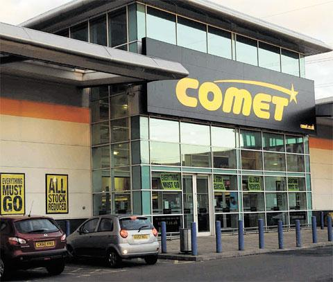 JOBS TO GO: Comet has gone into administration
