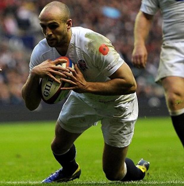Free Press Series: Charlie Sharples scores a try during England's autumn Test with Fiji