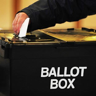 By-elections are being held in Corby, Cardiff South and Manchester Central