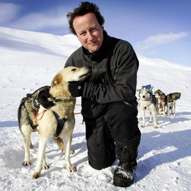 Free Press Series: WWF-UK took David Cameron to the Arctic in 2006 where he posed with a husky in an image that suggested his concern for the environment