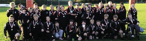 Caldicot U11s and 12s Junior Rugby Club who were unbeaten on their trip to a London Welsh tournament