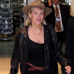 Nadine Dorries arrives back in Britain to face the music after her appearance on I'm A Celebrity...