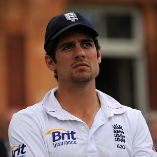 Alastair Cook took h