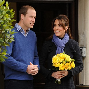 The Duke and Duchess of Cambridge leave the King Edward VII hospital in London where she was treated for severe morning sickness