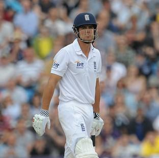 Captain Alastair Cook led England's slow progress in the second innings against India