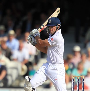 Alastair Cook was out for 13 off 93 balls