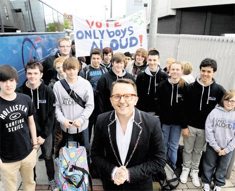Free Press Series: WELSH AWARD: Conductor Tim Rhys-Evans and Only Boys Aloud