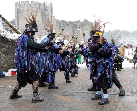 CELEBRATION: The Chepstow-based Widders at their Wassail and Mari Lwyd event