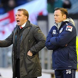 Brendan Rodgers, left, felt his youngsters did not do themselves justice
