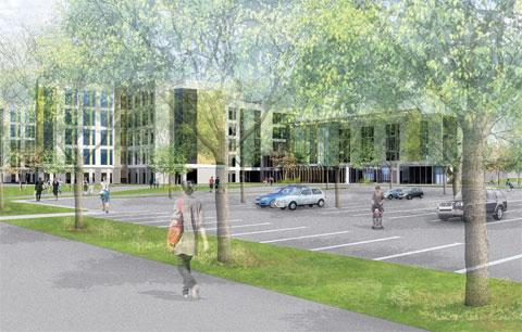 MUCH-DELAYED: An artist's impression of the Specialist and Critical Care Centre in Llanfrechfa