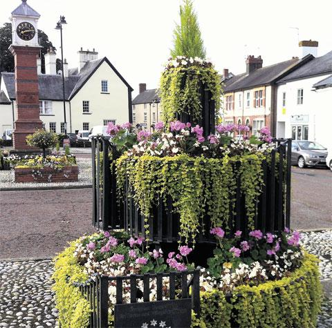 COLOURFUL: Displays on show in Usk