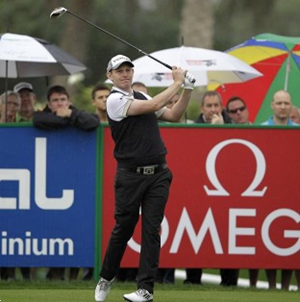 Stephen Gallacher carded a third-round 62 in Dubai