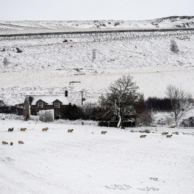 More snow is expected in parts of the UK on Sunday afternoon