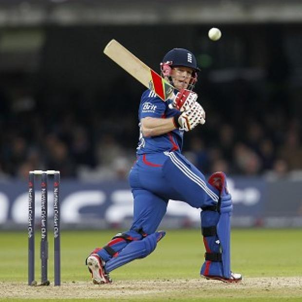 Eoin Morgan top-scored with 46 runs in an impressive England innings