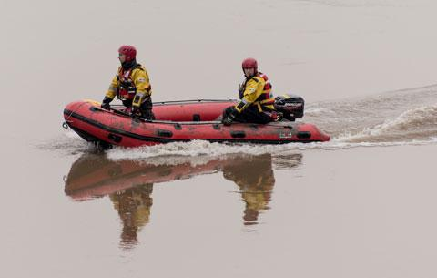 SARA rescue boat on River Wye