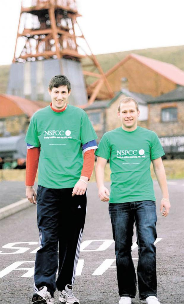 FUNDRAISING IDEA: Rhys Ballam and Craig Fellows will walk 32 miles for the NSPCC