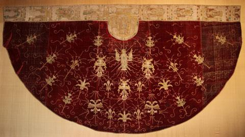 FORMER GLORY: The rare priest's vestment which has been repaired and is now in a purpose-built display case