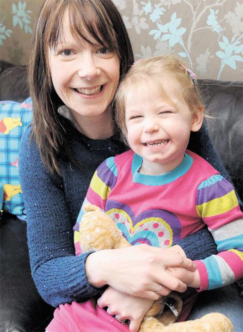Louise Pavia, pictured with daughter Maddie, is doing a charity zip ride