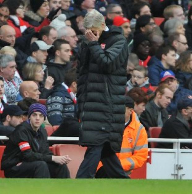 Arsene Wenger was angry following the defeat to Blackburn