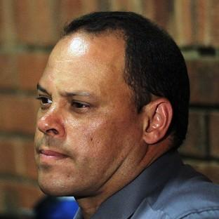 Hilton Botha sits in court during the Oscar Pistorius hearing (AP)