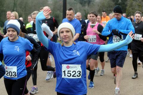 Free Press Series: ON THE RUN: Runners brave the cold to take part in the St David's Foundation 10k in Ponypool Park