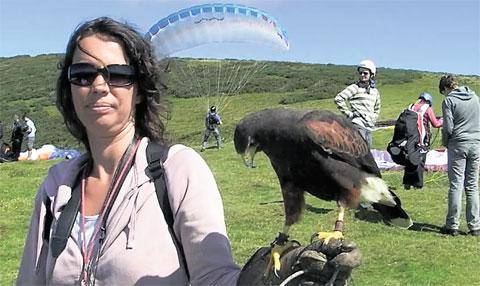 BIRD'S EYE VIEW: The art of combining paragliding with falconry is capturing the