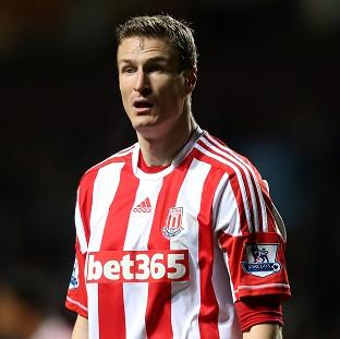 Robert Huth, pictured, is being charged after clashing with Philippe Senderos during Stoke's defeat