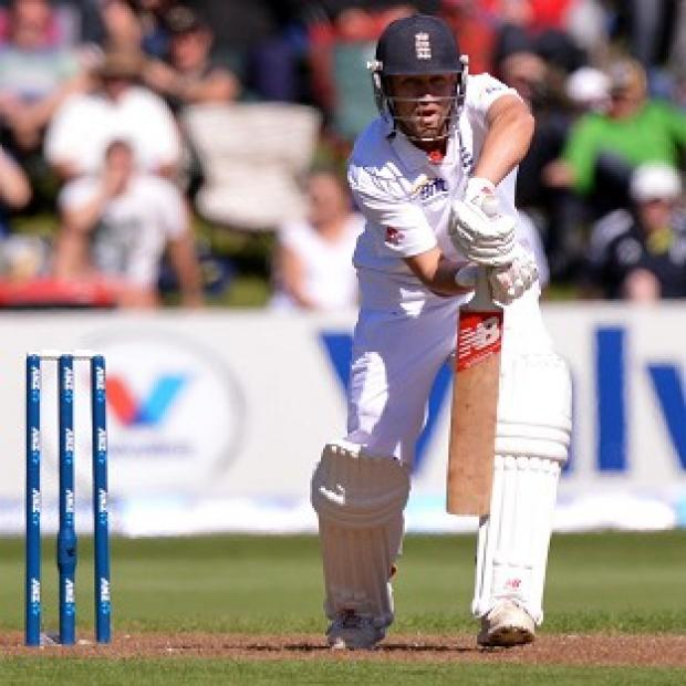 Jonathan Trott top-scored for England with 45