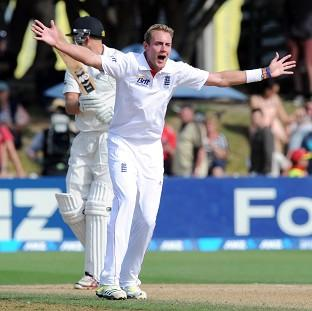 Stuart Broad says England are in confident mood after making New Zeland follow on (AP)