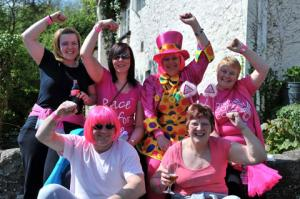 Walkers get in the pink for a Gwent Breast Cancer walk