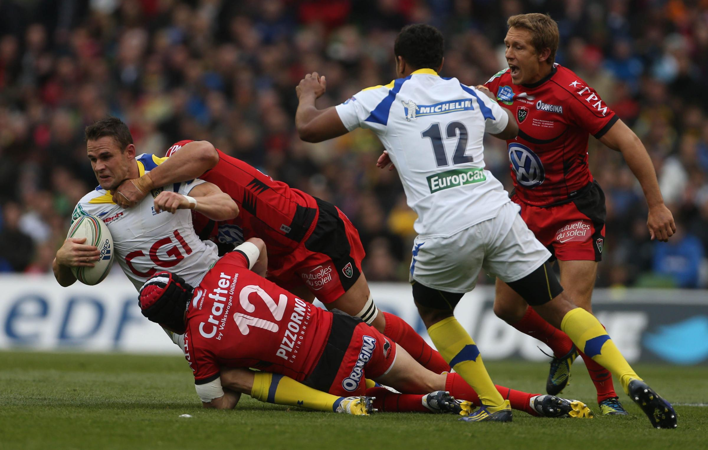 TOP PLAYER: Clermont Auvergne full-back Lee Byrne