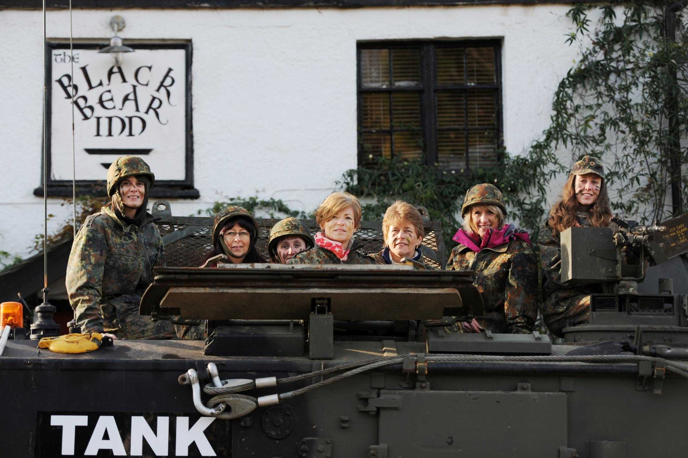 'Tank' takes to the road near Usk