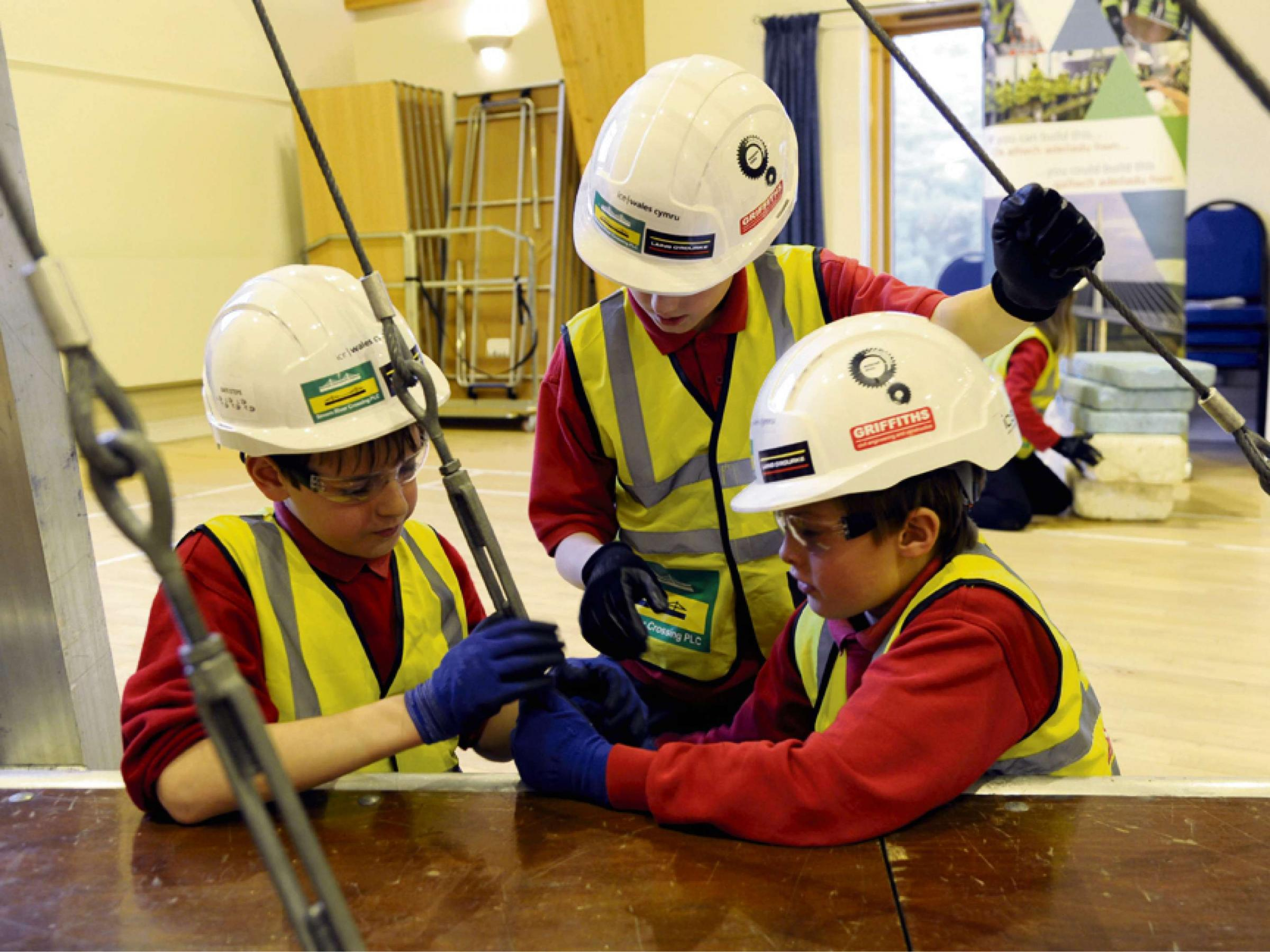 Monmouth pupils recreate Severn Crossing