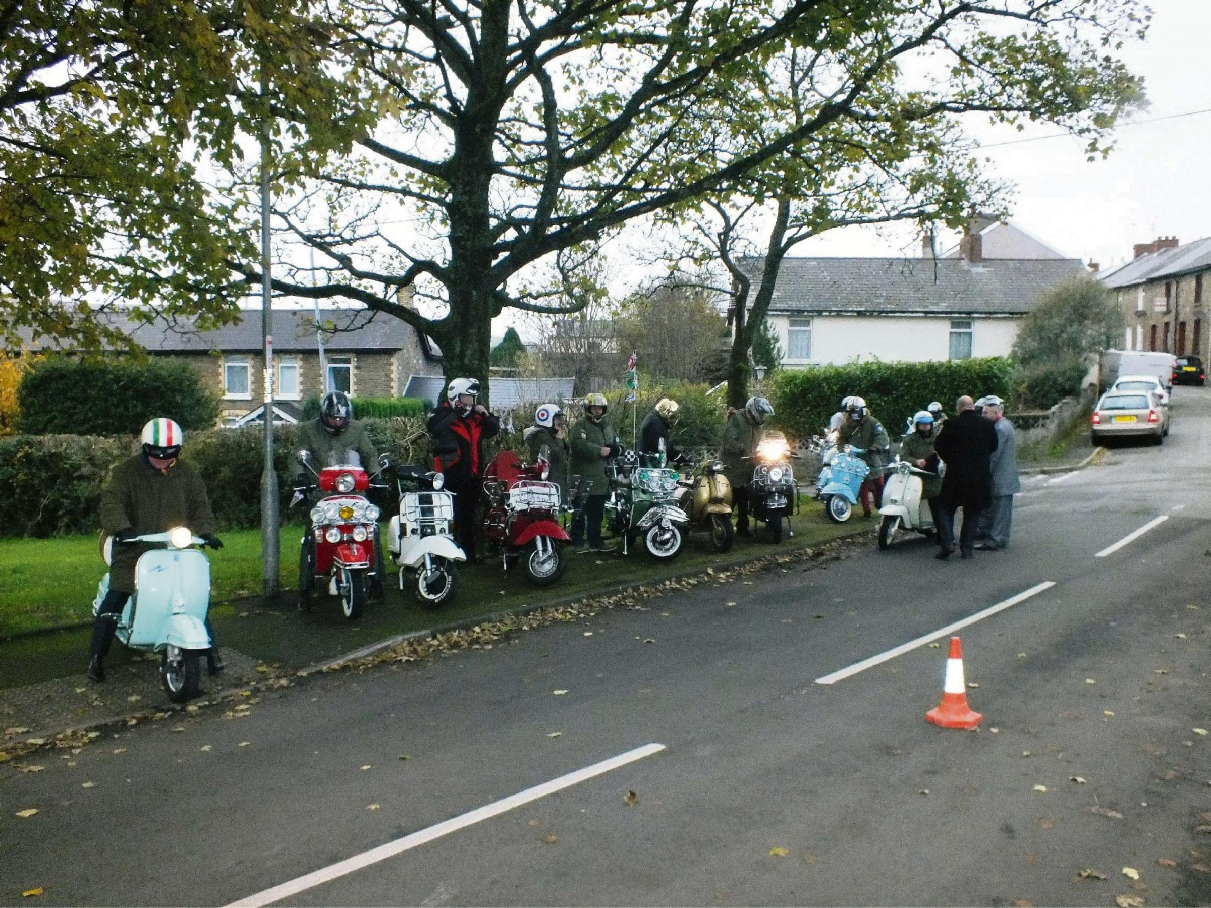 Pontypool couple celebrate wedding with vintage scooters