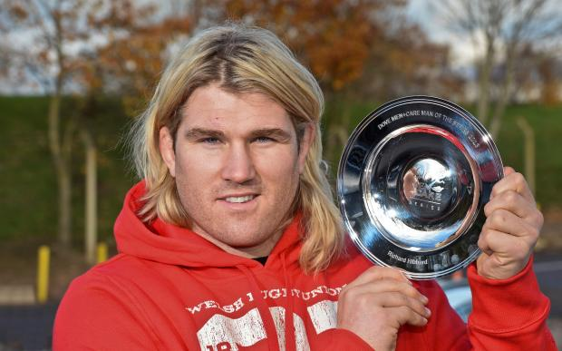 Free Press Series: WINNER: Richard Hibbard with his man of the series trophy