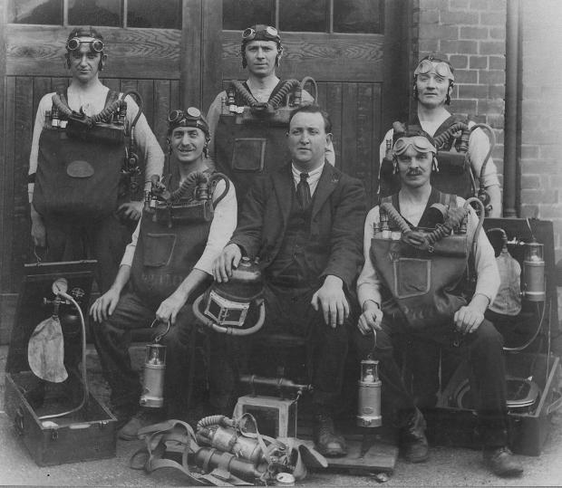 Free Press Series: FROM THE ARCHIVE: A colliery rescue team