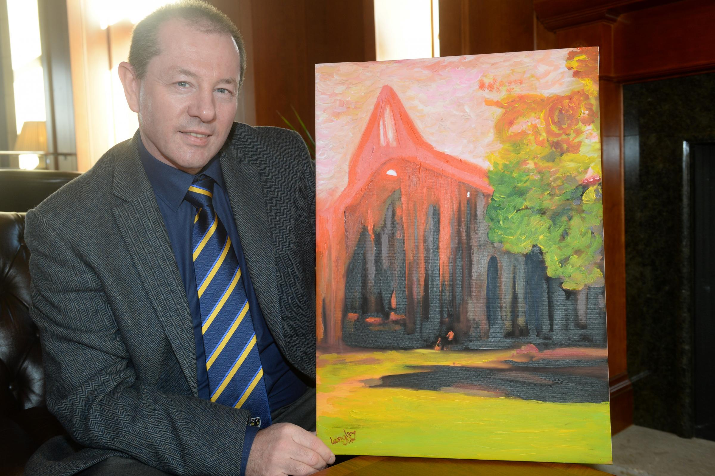 Artist taking Tintern Abbey picture to New York gallery