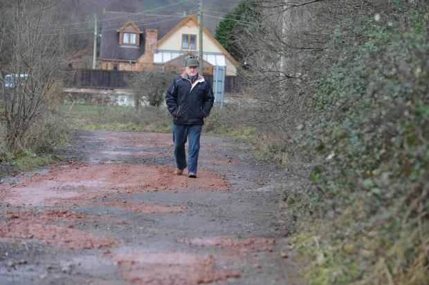 Roger Rudge who has been campaigning for an alternative route to Elizabeth Road in The British due to flooding (3315417)