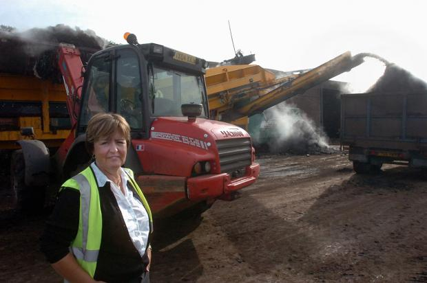 IN COURT: Jacqueline Powell at the Wormtech site in Caerwent